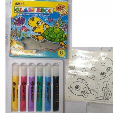 AMOS GLASS DECO – 玻璃彩 6 色(海龜)