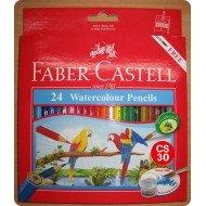 FABER CASTELL  水溶性木顏色 (24色)
