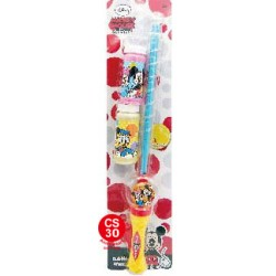 MICKEY MOUSE FRIENDS BUBBLE WATER SET 孖裝吹波水連劍