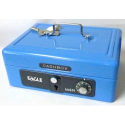 """Eagle 668M 8"""" 中型手提錢箱 (藍色)"""